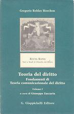 Robles Morchon. Teoria del diritto, volume I. Giappichelli, 2007