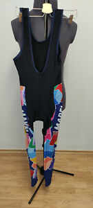SMS Santini Mapei Mens Vintage Cycling Bike Winter Tights Size Large VERY RARE