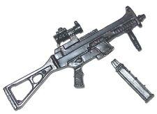 "CQB Machine Gun w/ Magazine (1) -1:18 Scale Weapon for 3-3/4"" Action Figures"