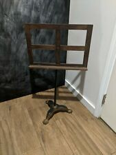 Antique Music Stand Cast Iron Claw Foot Base Early 1900s Adjustable Height
