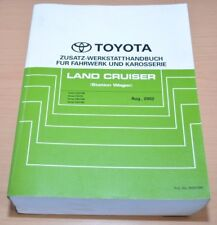 Toyota Land Cruiser UZJ FZJ HZJ HDJ 105 Fahrwerk Karosserie Werkstatthandbuch