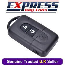 Nissan 2 Button Remote Key Fob Case Fits Micra Xtrail Qashqai Juke Duke Navara