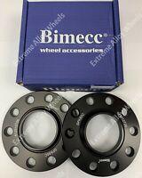 BLACK BIMECC HUB ALLOY WHEEL SPACERS 10MM 72.6-56.6 OPEL 4X100