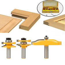 3Pc 1/2'Shank Rail & Stile Ogee Raised Blade Cutter Panel Cabinet Router Bits *&