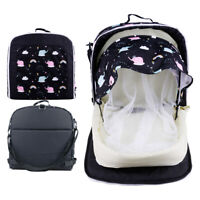 Portable Infant Baby Bed Backpack Crib With Mosquito Net Foldable Nest Carry Cot