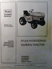 Sears Craftsman FF 24 Lawn Garden Tractor 917.254830 Owner & Parts Manual h.p