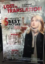 Lost in Translation Bus Shelter Bus Stop Poster Scarlett Johansson Bill Murray