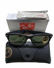 Ray-Ban New Wayfarer Sunglasses RB2132 622 55mm Matte Black 145mm