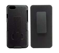 """Apple iPhone 6- 6S (4.7"""") Shell Holster Combo Case with Kick-Stand & Belt Clip"""
