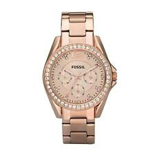 Stainless Steel Band Women's Adult Round Wristwatches