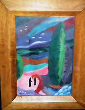 Oil Painting on Board Attributed to Alexei Jawlensky