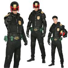 XCOSER Judge Dredd Halloween Cosplay Costume Outfits Black Adult Uniform Props