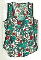 Eloide ~ Womens Size M Floral Print  black, red, purple, and green Tank Top