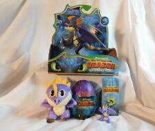 "Purple Deadly Nadder Gift Set 5"" Action Dragon, Plush Baby Egg & Figure Stormfly"