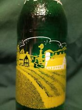 1950 Red River Valley 7oz acl soda bottle farm house,barn,crop rows Crookston Mn