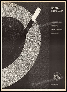 INDUSTRIAL LIGHT & MAGIC__Original 1989 Trade print AD promo / poster