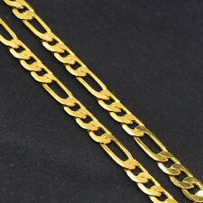 "18"" 18K Gold Filled Fashion Jewelry 5MM Chain Men Figaro Necklace Chains"