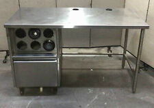 61x30 Stainless Steel Beverage Station Table Cup Dispenser Counter Top Prep