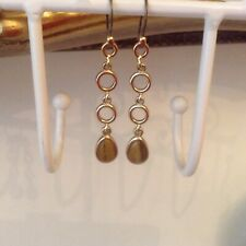 Vintage Monet Tigers Eye Drop Earings