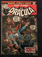 TOMB OF DRACULA #13 (1973) KEY ISSUE- Origin of Blade. Around VG