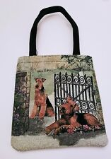 Airedale Lakeland Welsh Terrier Dog Breed tapestry purse handbag, only one ever