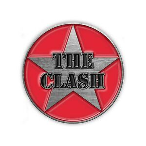The Clash Star Logo Round Metal Pin Badge (rz)