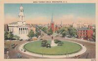 *(M)  Washington, DC - Bird's Eye View of Thomas Circle and Surroundings