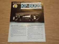 Pioneer KP-8005 Car Stereo Cassette tape with radio Original Catalogue