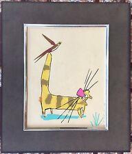 Gerardo Garcia Ramis Serigraph El Gato Y El Pajaro Cat And Bird Puerto Rico 1989