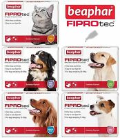 Beaphar Dog Cat Flea Treatment Fiprotec Tick Spot On 1 4 6 Small Medium Large XL