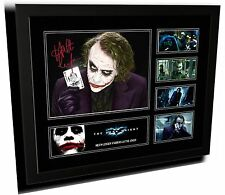 HEATH LEDGER THE DARK KNIGHT JOKER SIGNED LIMITED EDITION FRAMED MEMORABILIA