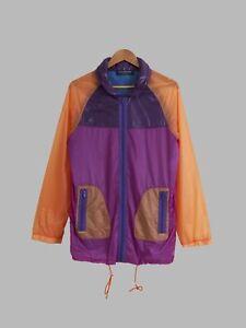 Keita Maruyama Homme purple orange nylon windbreaker with collar hood - mens S