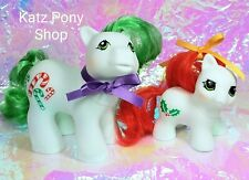 HQG1C Custom Vintage G1 MLP Style Christmas Baby Set 🎄 CANDYCANE and HOLLY 🎄