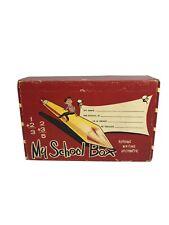Vintage Jacksonville Ginter Box Co My School Box Pencil Crayon Box