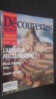 Revista Semanal Dibujada Descubrimientos Junior N º 30 Gallimard Buen Estado