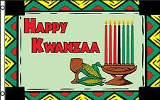 HAPPY KWANZAA  W/GRAPHICS  POLY 3' X 5' FLAG