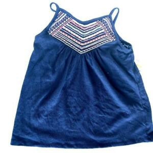 Epic Threads Girls Blue Boho Embroidered Spaghetti Strap Top NWT Medium