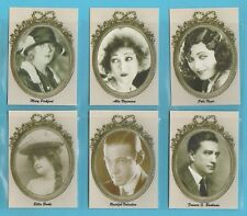 FILM  STARS  -  JF SPORTING COLLECTIBLES - SET OF L 24 SILENT MOVIE STARS