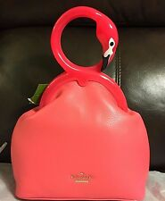 NWT KATE SPADE STRUT YOUR STUFF KISSING FLAMINGOS CLUTCH PURSE~LIMITED EDITION