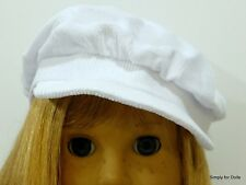 "WHITE Corduroy NEWSBOY DOLL CAP HAT fits 18"" AMERICAN GIRL Doll Clothes"