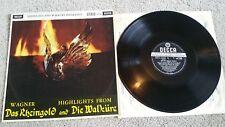 WAGNER HIGHLIGHTS FROM DAS RHEINGOLD & DIE WALKURE SXL 2230 ZAL4613 2E/ 4 2E LP