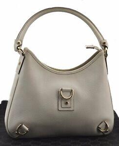 Authentic GUCCI Abbey Shoulder Hand Bag Leather 130733 White E2990