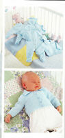 """Knitting Pattern- Tiny Baby- 4 ply Jacket-All in one- Leggings- fits prem 10-16"""""""
