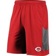 Men's Majestic Red/Gray Cincinnati Reds TX3 Cool Tech Shorts
