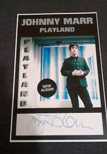 JOHNNY MARR SIGNED PLAYGROUND PROMO POSTER MODEST MOUSE THE SMITHS Morrissey COA