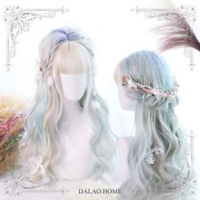 Wig Harajuku Kawaii Lolita Aurora Color Gradient Sweet Dolly Long Curly Hair