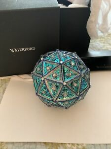 """2019 Waterford Times Square Replica 6"""" Ball Ornament  With Tags Pink Blue Shiny"""