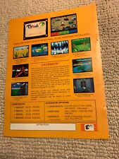 11- 8.5'' Crossbow Exidy arcade  video game AD FLYER