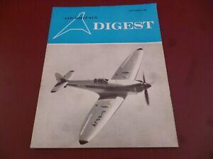 AIR BRITAIN DIGEST SEPTEMBER 1967 COVER - SPITFIRE G-ASJV