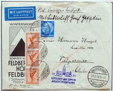 GERMANY to ARGENTINA > CHILE 1934 ZEPPELIN, Argentinienfahrt/Flight Cover,Nutley